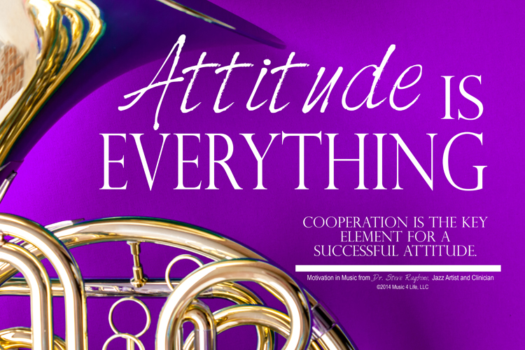 Attitude is Everything Motivational Poster