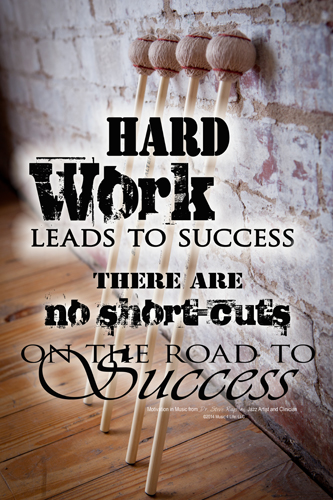 Hard Work Motivational Wall Poster
