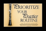 Prioritize Your Practice Routine, a Music poster for sale by JW Pepper