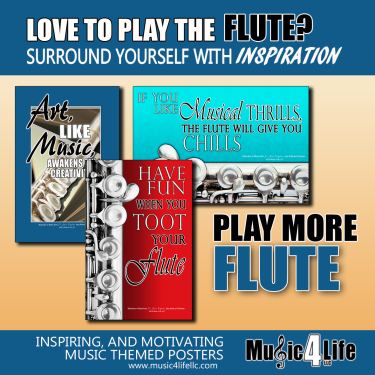 Flute Music instrument poster